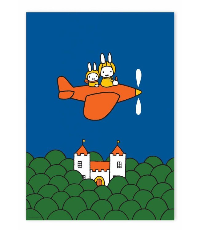 Dick Bruna Poster Miffy flying , 42 x 59.4 cm