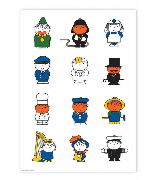 Dick Bruna Poster Dick Bruna's various characters, 42 x 59.4 cm