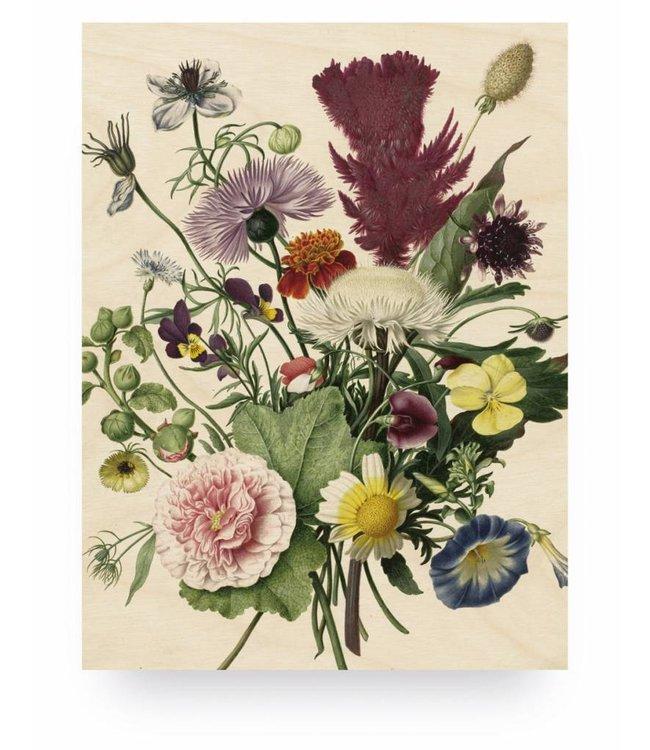 Prints auf Holz, Wild Flowers, M, 60 x 80 cm