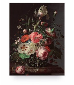 Prints auf Holz, Golden Age Flowers 3, S