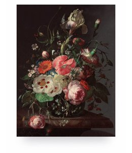 Print op hout Golden Age Flowers 3, M