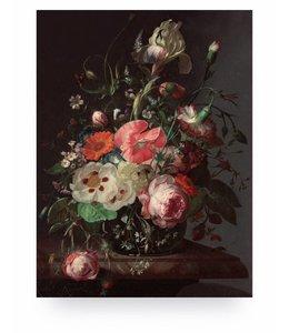 Prints auf Holz, Golden Age Flowers 3, M