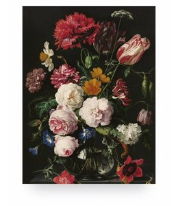 Print op hout Golden Age Flowers 2, M