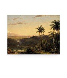 Print op hout Golden Age Landscape 2, M