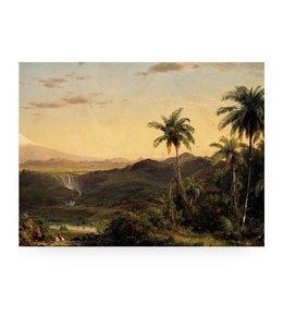 Print op hout Golden Age Landscape 2, L