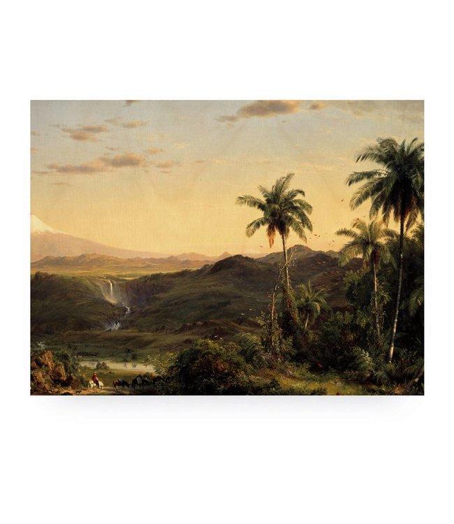 Wood print, Golden Age Landscape 2, L, 100 x 75 cm