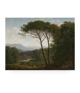 Print op hout Golden Age Landscape 3, L