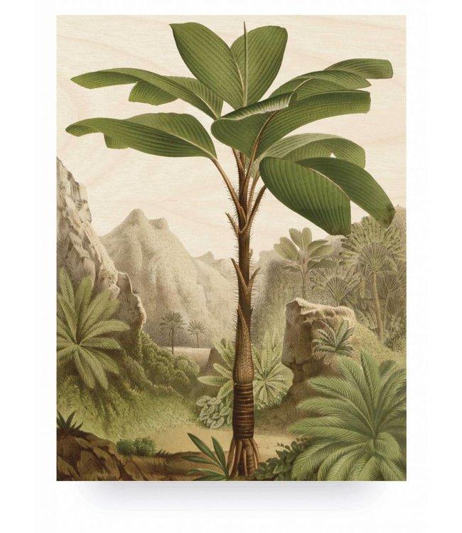 Wood print, Banana Tree, L, 75 x 100 cm