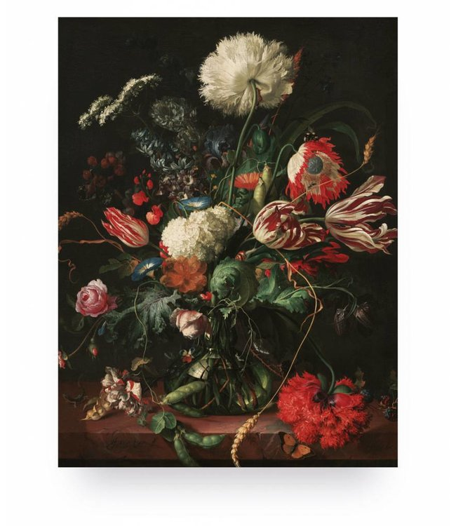 Prints auf Holz, Golden Age Flowers 1, S, 45 x 60 cm