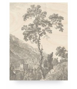 Print op hout Engraved Tree, L