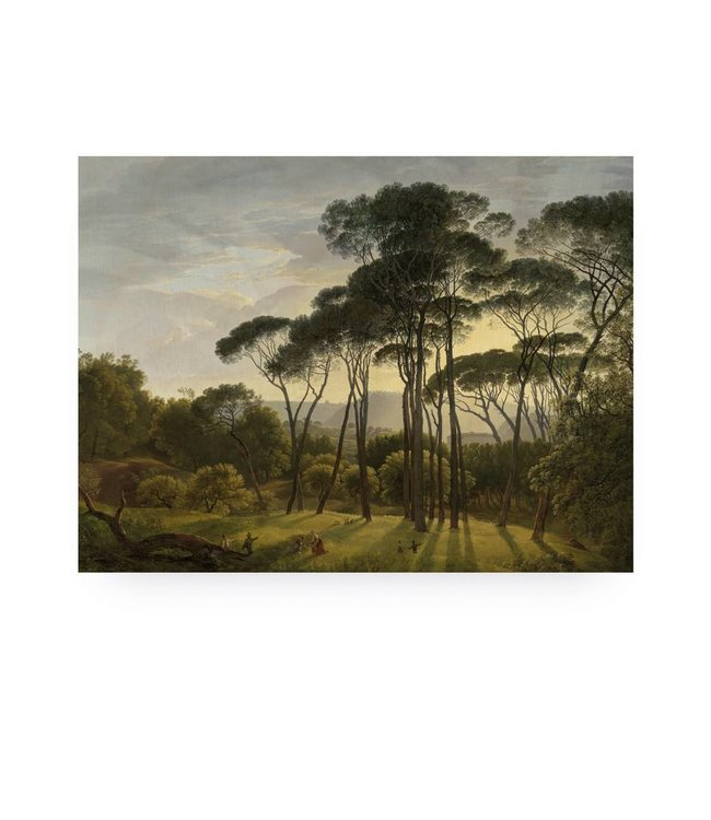 Print op hout, Golden Age Landscape 1, M, 80 x 60 cm