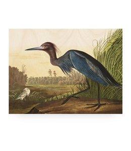 Print op hout Blue Crane, L