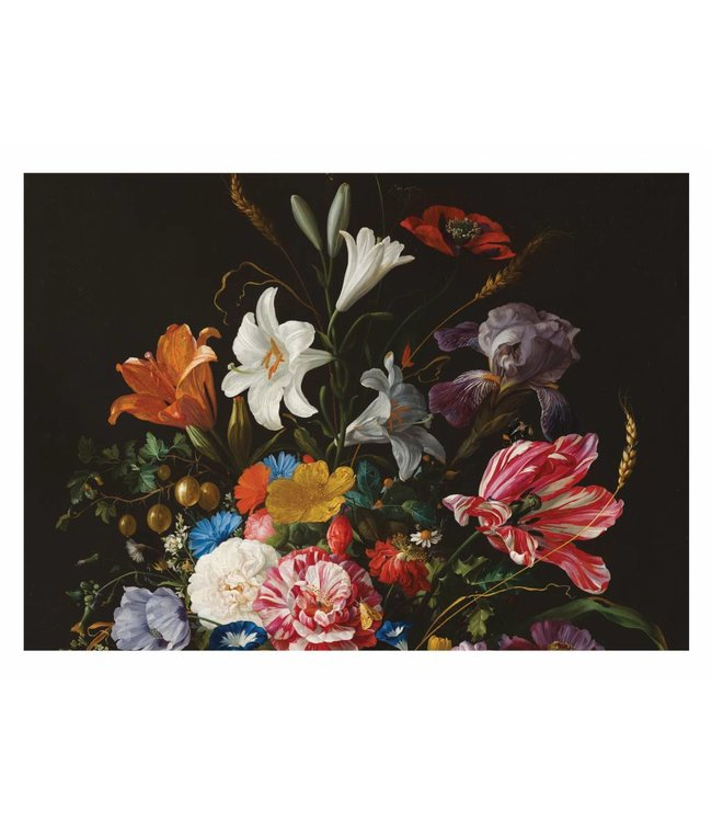 Wall Mural Golden Age Flowers 5, 389.6 x 280 cm