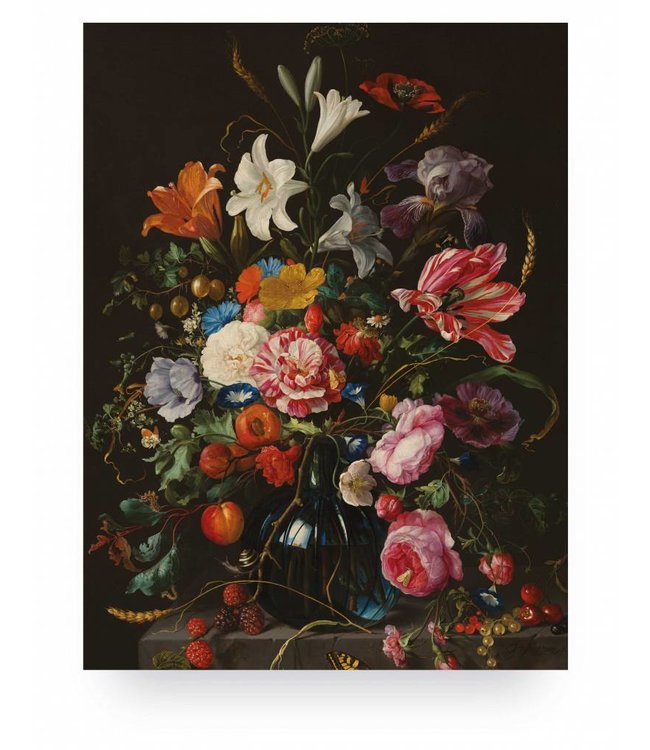 Prints auf Holz, Golden Age Flowers 5, M, 60 x 80 cm