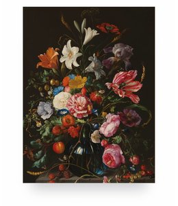 Print op hout Golden Age Flowers 5, S