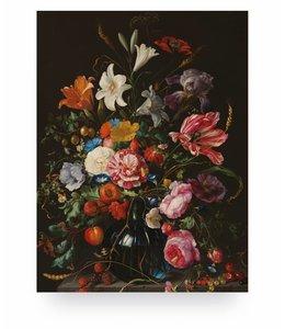 Prints auf Holz, Golden Age Flowers 5, S