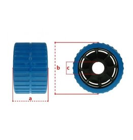 Maypole Blue Non Marking Ribbed Wobble Boat Roller 74 x120 x 15mm