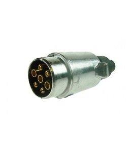 12N 7 Pin Aluminium Plug BRASS Pins