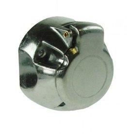 12v 7 Pin Aluminium Trailer Socket NICKEL Pins
