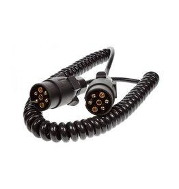 Maypole Trailer 2.5m Curly Connecting Lead 12N 7 Pin Plug