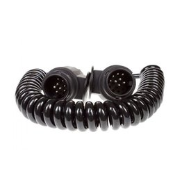 Maypole Trailer 2.5m Curly Connecting Lead 13 Pin 2 x 8 Pin Plugs 8 Core