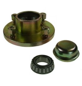 "URB Unbraked Hub with bearings studs 4 Stud 4"" pcd 500kg"