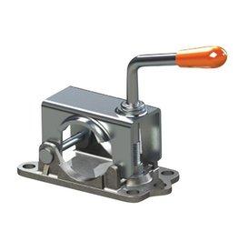 Kartt Orange 48mm Diameter Split Jockey Wheel Clamp with Cast Base