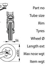 60mm Kartt Orange Jockey Metal Rim Solid Wheel Auto Lift | Fieldfare Trailer Centre