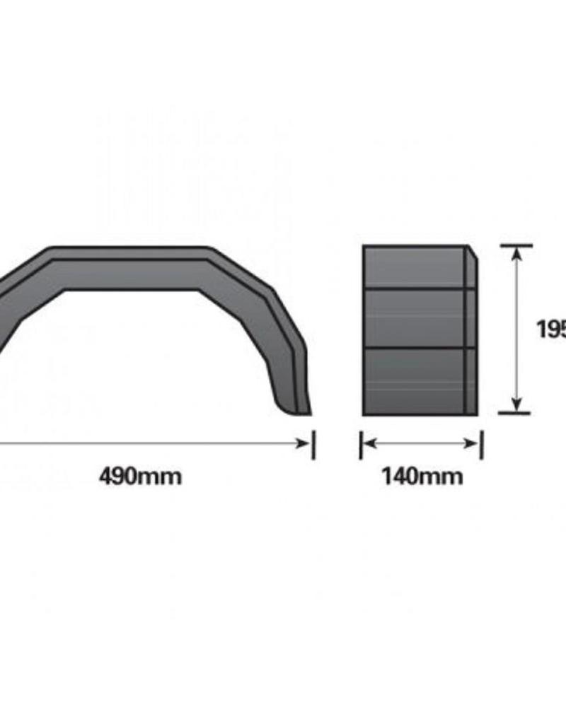 8 inch Single Black Mudguard | Fieldfare Trailer Centre
