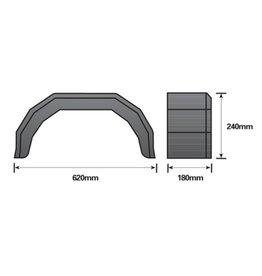 10 inch Single Black Mudguard