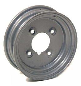 "Silver Trailer Wheel 8 Inch Rim Steel 2.5J x 4"" PCD 4 Holes"