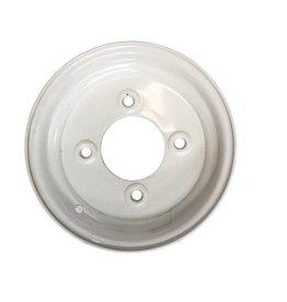 Trailer Wheel 10 inch Rim Steel 3.50J x 5.5inch PCD x 4 Holes - White