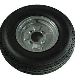 500 x 10 Wheel & Tyre 6 PLY in Silver 4 Stud