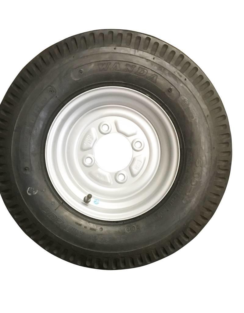 500 x 10 Wheel & Tyre 6 PLY in Silver 4 Stud 115mm pcd | Fieldfare Trailer Centre