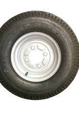 500 x 10 Wheel & Tyre 6 PLY in White 4 Stud | Fieldfare Trailer Centre