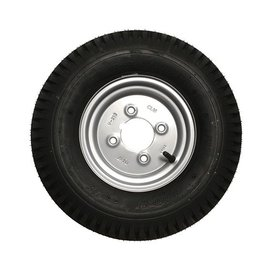 "400 x 8 Wheel & Tyre 4 PLY in Silver 4"" PCD"