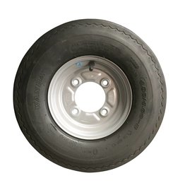 "400 x 8 Wheel & Tyre 4 PLY in White 4"" PCD"