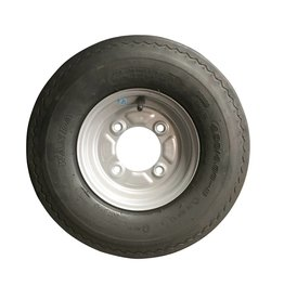 400 x 8 Wheel & Tyre 4 PLY in Silver 115mm pcd