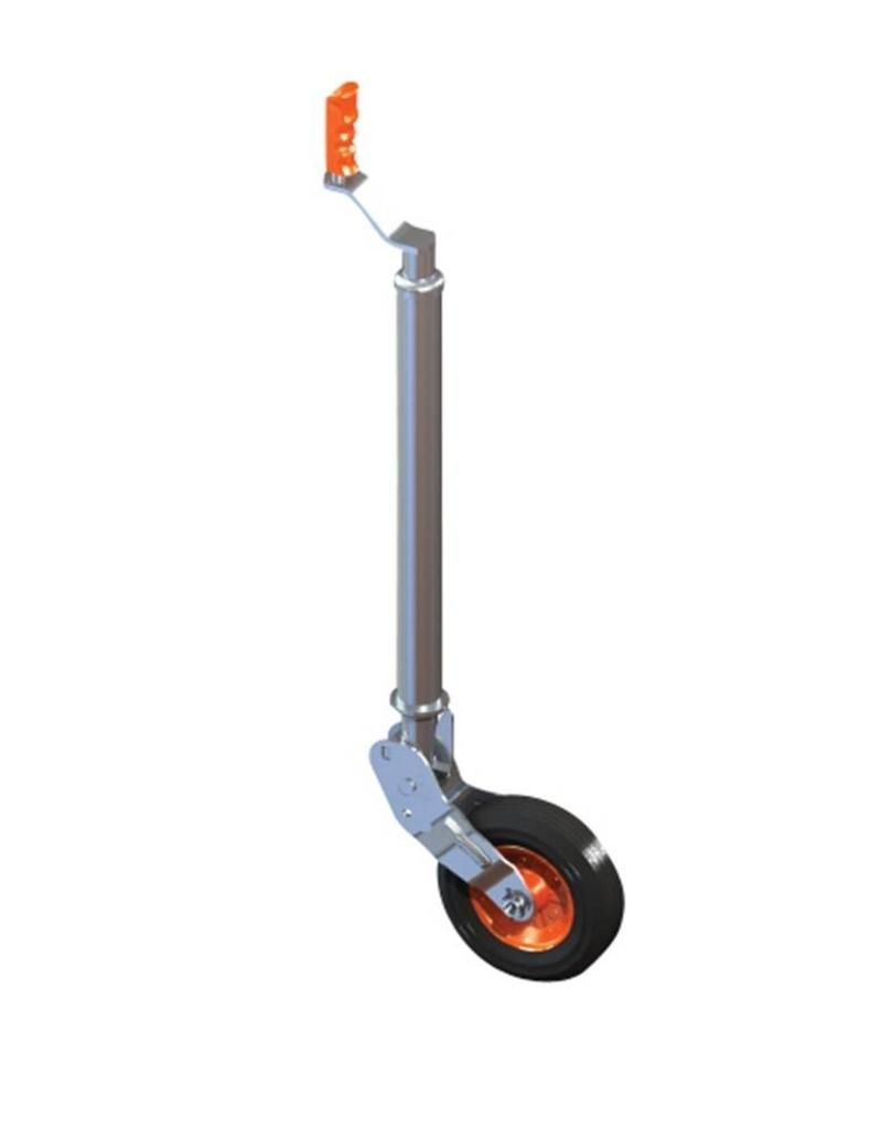 48mm Kartt Orange Jockey Metal Rim Solid Wheel Smooth Auto Lift | Fieldfare Trailer Centre