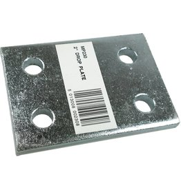 Maypole Zinc Plated 2 Inch Drop Plate