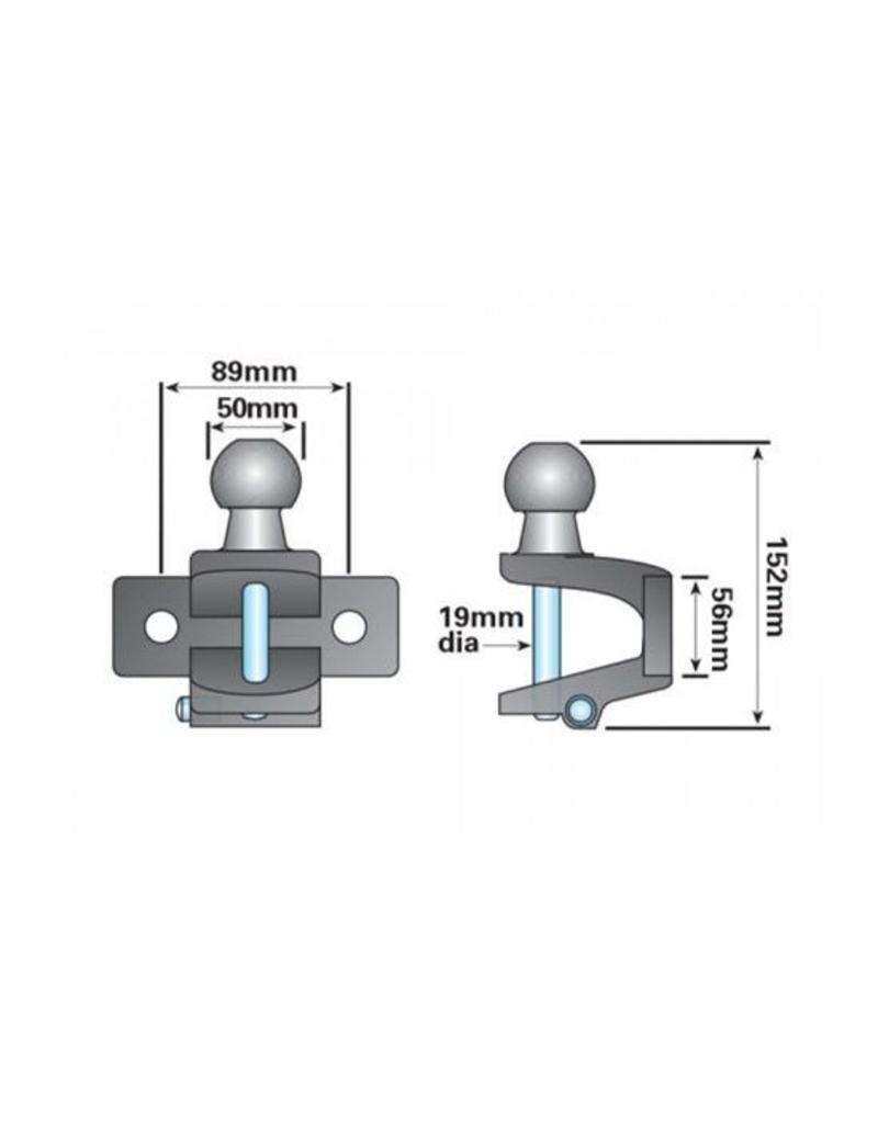 Maypole 50mm High Reach Combined Ball and Pin | Fieldfare Trailer Centre