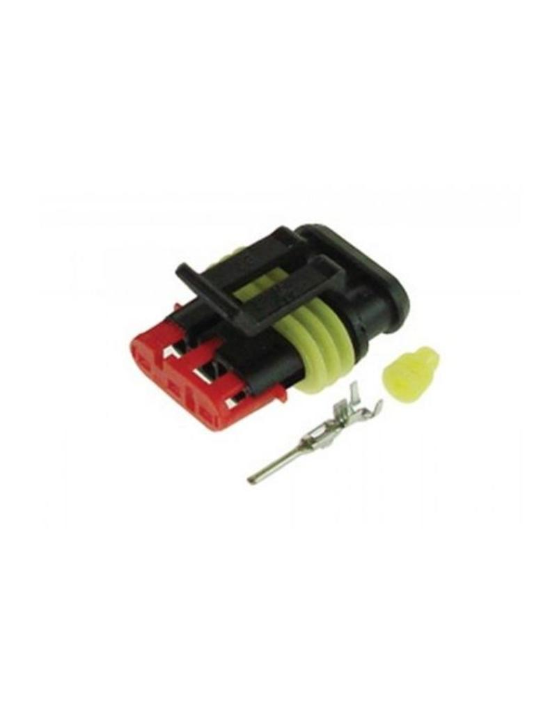 3 Way Male Plug Pack of 10 | Fieldfare Trailer Centre
