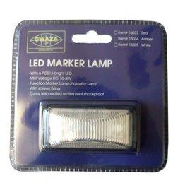 GWAZA GWAZA LED Trailer White Marker Lamp