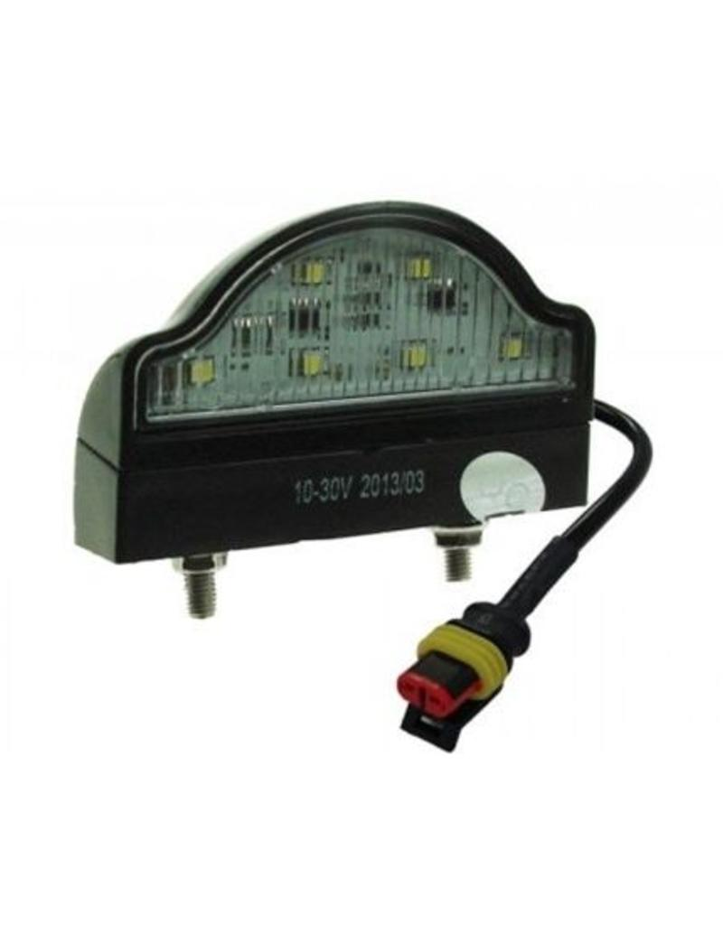 Maypole 10-30V LED Number plate Lamp with Super Seal Plug | Fieldfare Trailer Centre