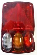 Aspock Aspock Ear point 4 Right Side Trailer Reverse and Fog Light Unit | Fieldfare Trailer Centre