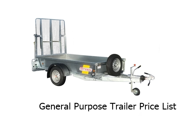 Batesons General Trailers Prices