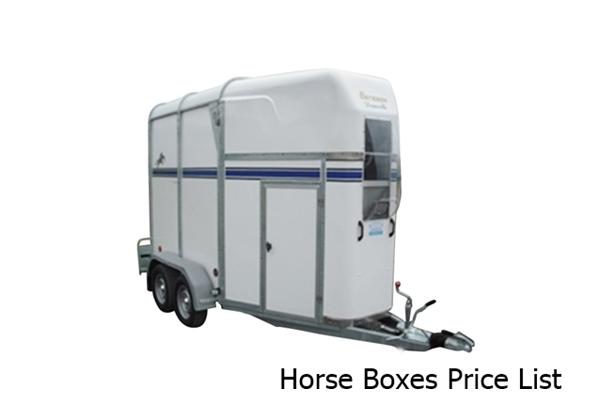 Horse Box Price List