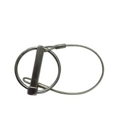 Brian James Linch pin 8mm dia, Spring steel ring 43 mm, 3.65 plastic coated retainer wire 190 mm L