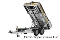 CarGo Tipper 2 Price List