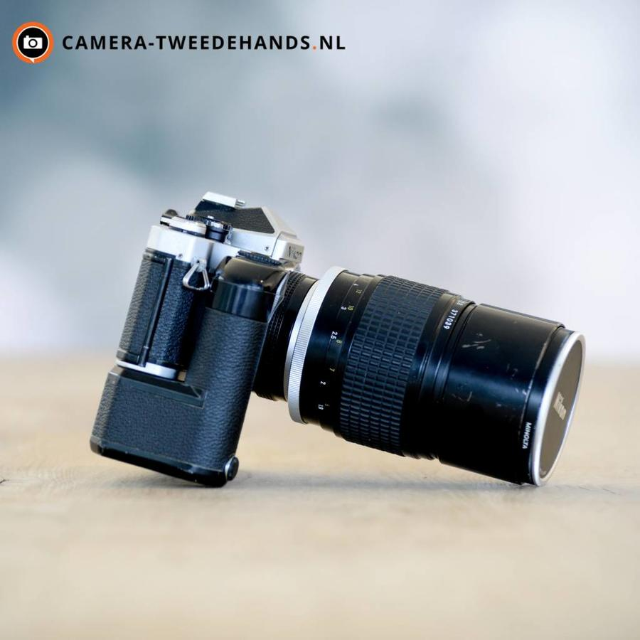 Nikon FE + Nikon Ai-S 180mm F2.8 ED